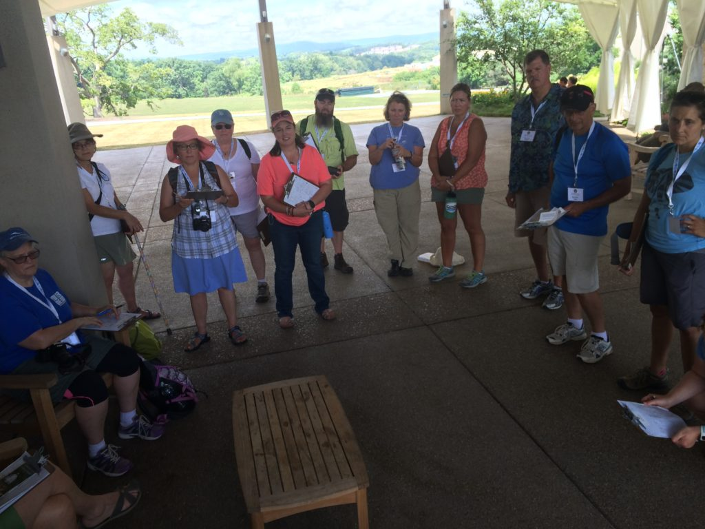 Assembly and sharing notes before leaving the Arboretum.