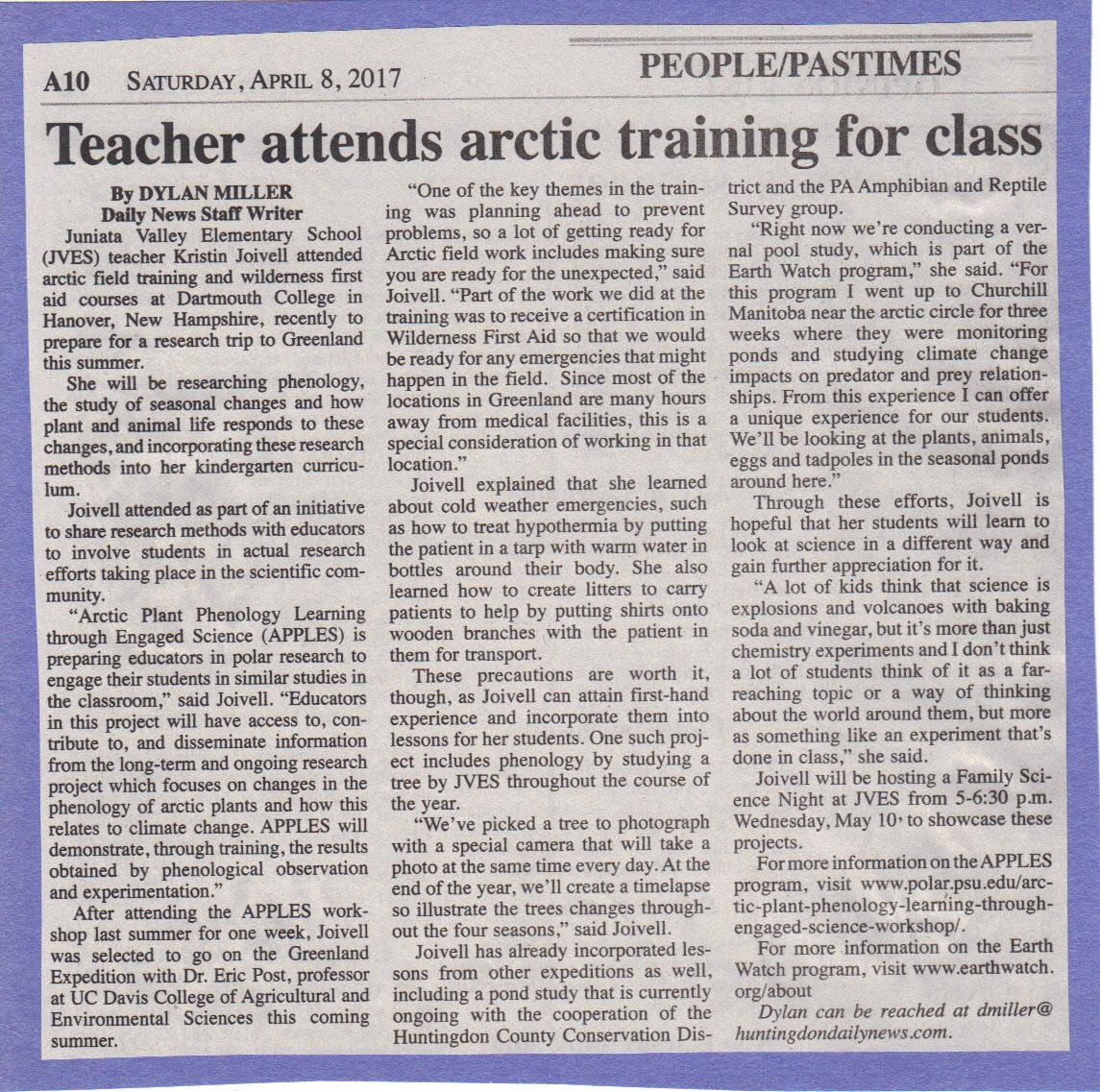 Daily News for April 8